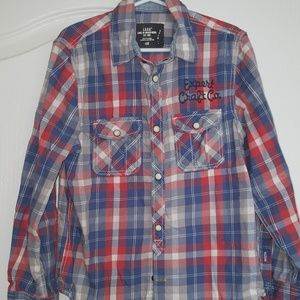 H&M Kids Plaid Shirt with Embroidery